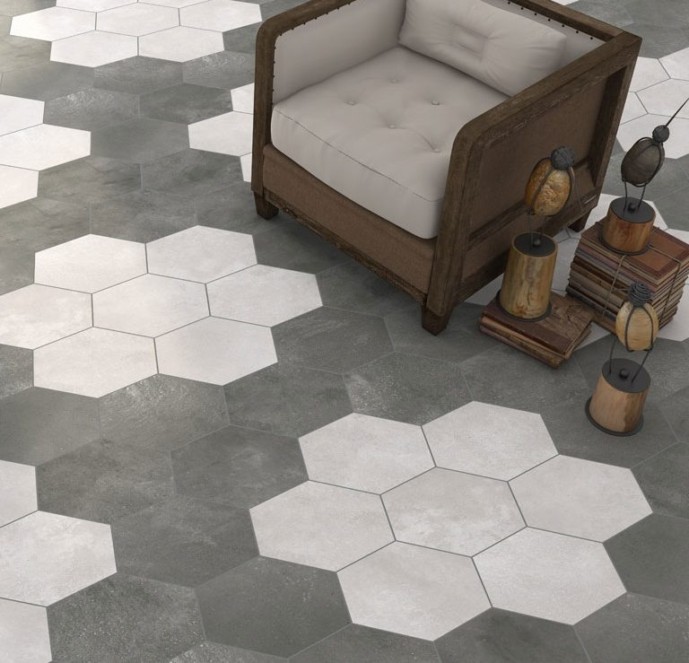hexa cement black, white